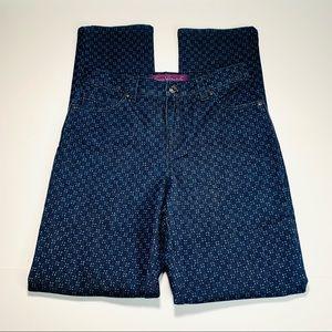 Gloria Vanderbilt jeans Amanda printed jean size 2